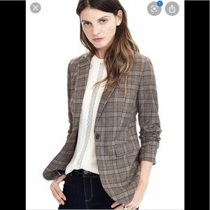 Banana Republic Brown Plaid Blazer